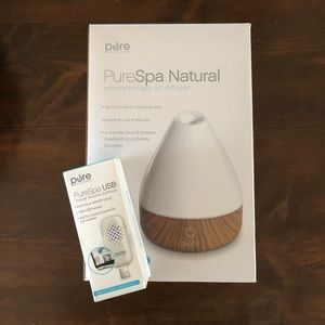 PureSpa Natural aromatherapy oil diffuser + travel
